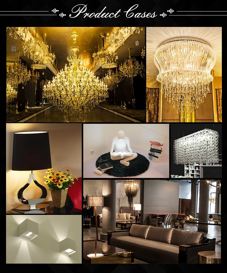 Luxury decoration hotel crystal chandelier project lamp