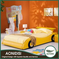 Modern Design OEM Acceptable Car Shape Kid Bed Of Wooden Bunk Bed