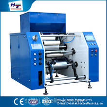 HT-350mm pe packaging plastic roll stretch film rewinder machinery