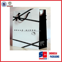 Good quality cheap price art paper full color retail paper bag printing for shooping on mall