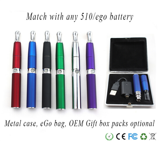 Factory wholsale e cig 510 wax atomizer stand with double quartz or ceramic rod vape pen battery