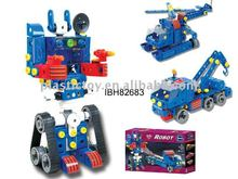 Hot DIY Block Electric Robot For Play Educational Toy IBH82683