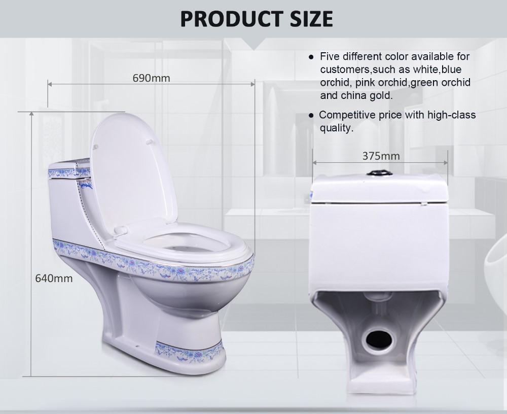 Cyclone Flushing Pedestal Pan Lavatory Flush Toilet With Adjustable ...
