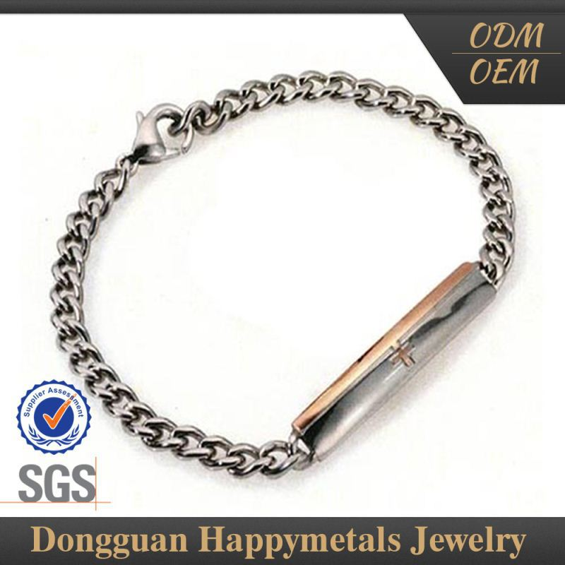 Hot Quality Popular Design Wholesale Sideways Cross Bracelet