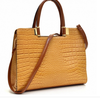 Women Tan Handbag Crocodile Shoulder Bag Briefcase Business Bag HOT ITEM