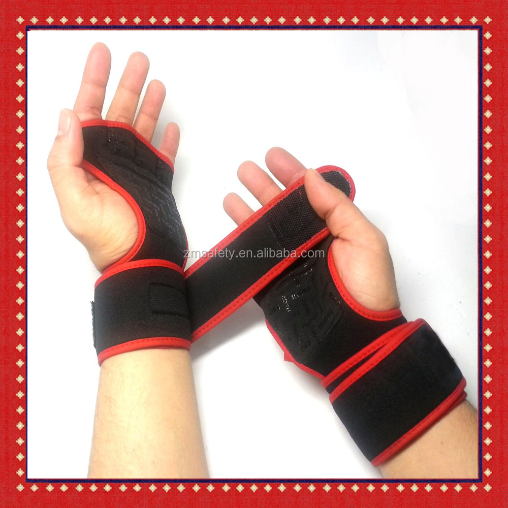 Workout Gloves Weight Lifting Long Strap Gym Bodybuilding Wrist Support Wraps