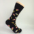 Custom icecream happy style men black bamboo fiber socks