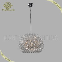 2015 hot sale modern crystal pendant lamp for dining room