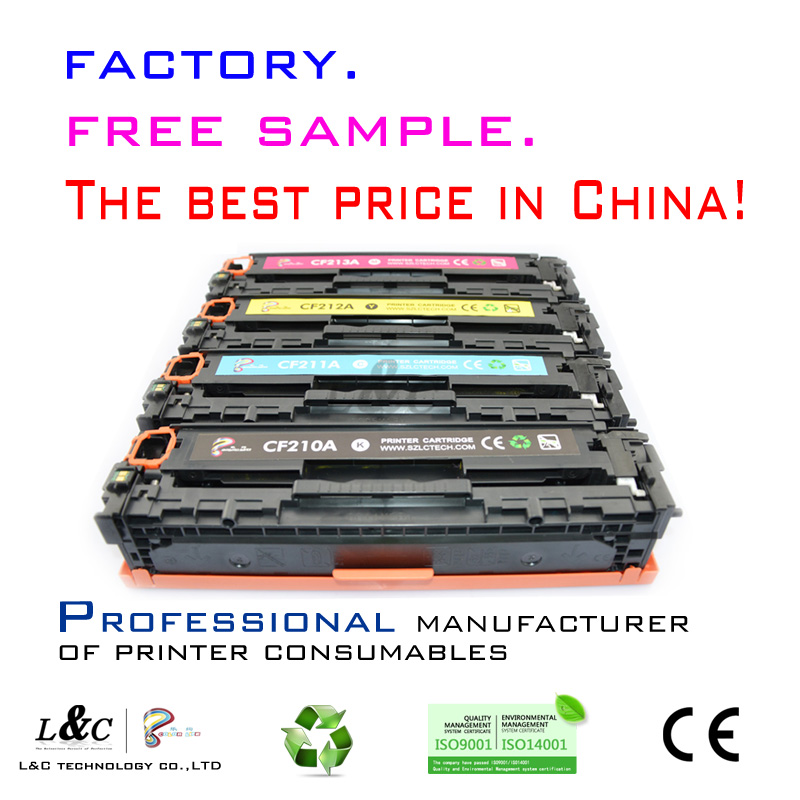 Made in China for hp original toner cartridge bulk buy CF210A color laserjet toner cartridge