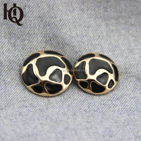 High-end fashion zinc alloy leopard print button for garments