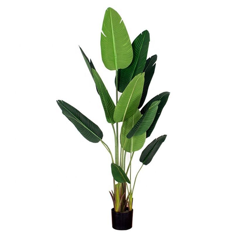 1.8m/5.3ft Artificial Travelers Tree/ Plastic Banana Tree, Indoor Potted bird of paradise plants