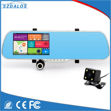 5 Inch android rearview mirror+Car GPS+WIFI car android sat nav /car android gps navigation box