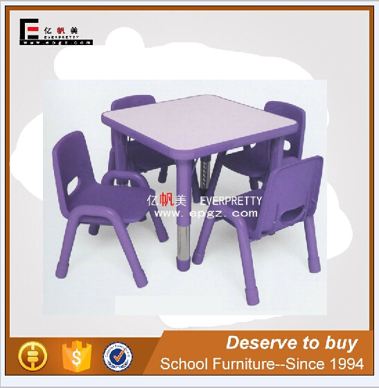 kids smooth reading table & chair, daycare study table and chair