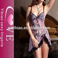 OEM plum blossom stripe lace slim japanese hot girl sleepwear sexy women lingerie wholesale
