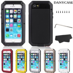 2014 BEST-MARKET LUXURY PHONE CASE DUST & SHOCK & WATERPROOF ALUMINUM METAL CASES FOR IPHONE