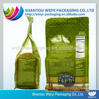 Large heavy duty stand up bag of rice and food packaging
