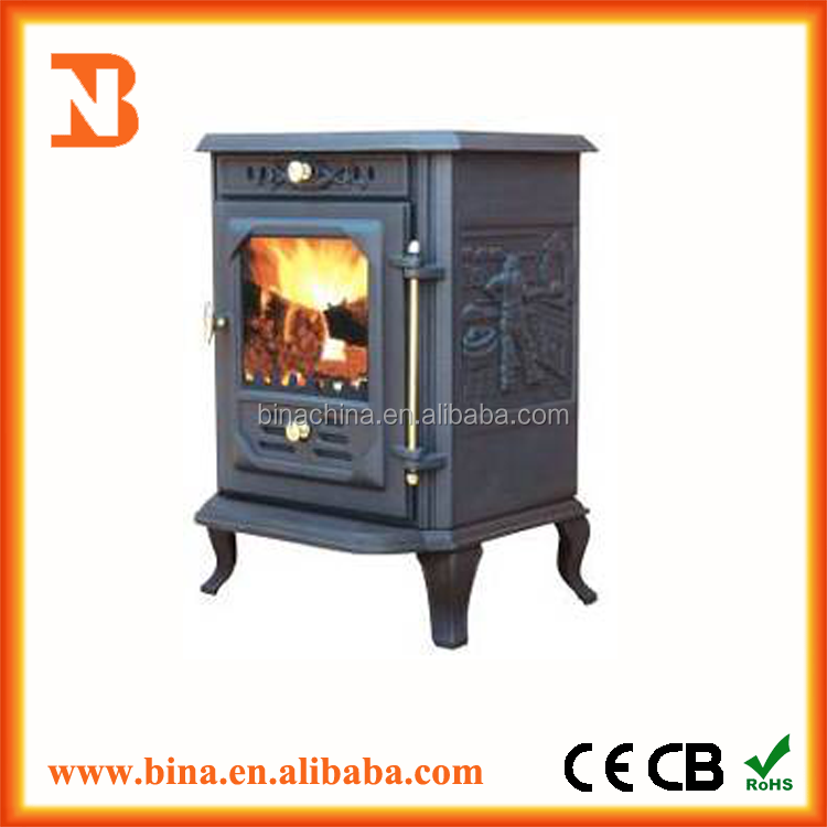 Best quality antique cast iron wood burning stove for sale