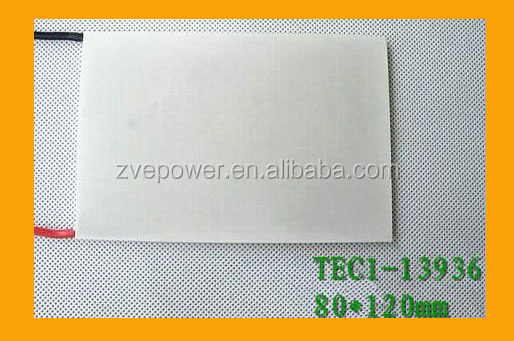 Ultra-high-power semiconductor cooling large area TEC1-13936 80*120mm peltier thermoelectric cooler