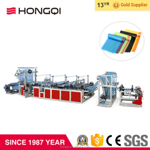 Auto ribbon through continuous HDPE rolled plastic garbage bag making machine
