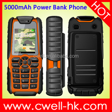 CAGI XP3300 5000mAh Battery Power Bank Mobile Phone 1.77 inch Dual Sim Card With Powerful Torch Unlocked
