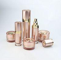 acrylic cream dispenser 30ml essential oil airless bottle,pump with bottle
