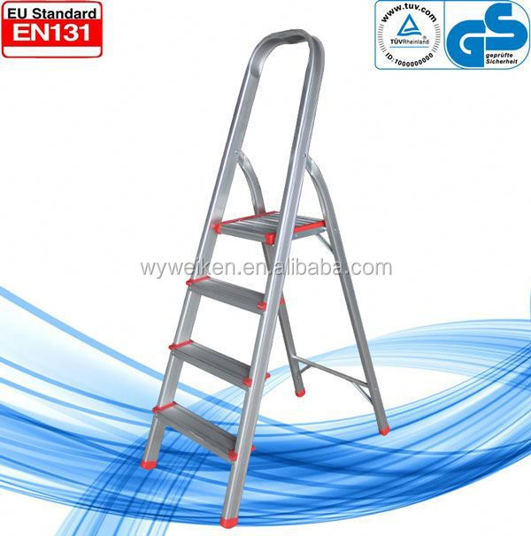 WK-AL204 4 steps high quality hot selling foldable easy store step ladder