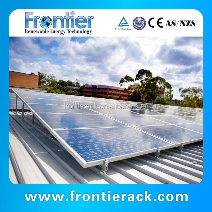 Solar pitched tin roof mounting system