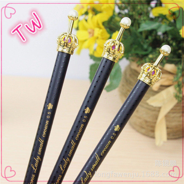 Most popular office school fancy stationery promotional best quality crown shaped metal ballpoint <strong>pen</strong> wholesale