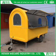 Big wheels mobile coffee retail vending cart with a top quality