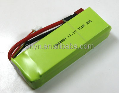 11.1V lithium polymer 2200mAh battery pack for RC model