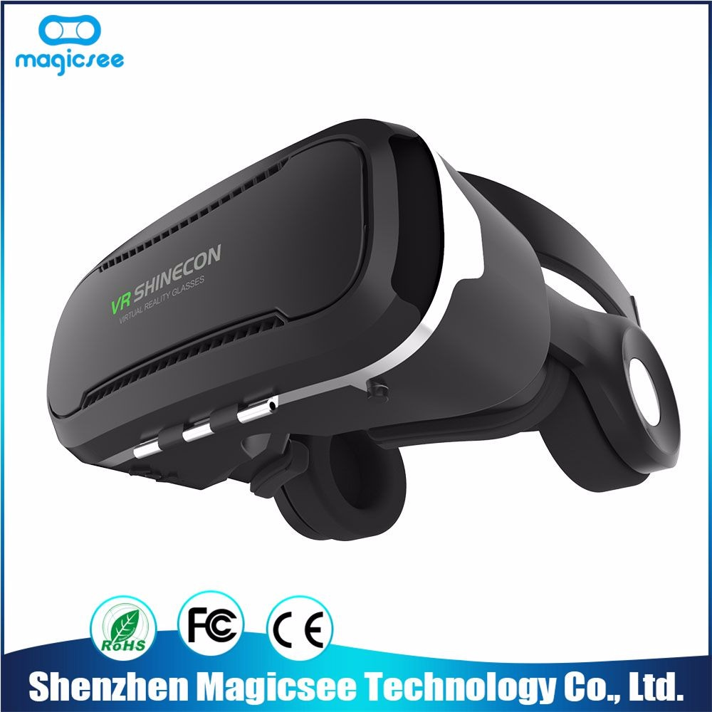VR Shinecon 3D VR Glasses Universal Video Glasses Virtual Reality with Controller For iPhone Smartphone and Bluetooth Control