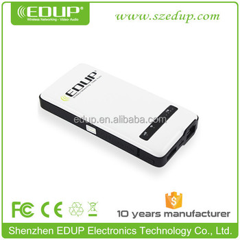 EDUP 150mbps wifi router pocket powerbank Mobile 3g wireless router with sim card and SD card slot EP-9512N