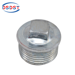 Carbon steel water pipe fittings Male Iron BSP Square Pipe Plug