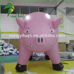Beautiful And Lovely Inflatable Animal Pig Model /10ft Giant Inflatable Pink Pig For Advertising