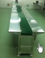 flat green PVC belt conveyor for mobile
