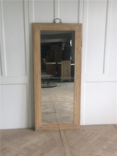 bathroom make up mirror with wooden frame
