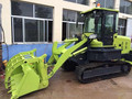 tracked front end loader with 1 ton loading bucket