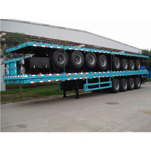 China high quality cheap price four axle flatbed container semi trailer
