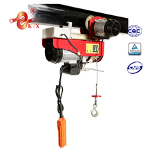 PAmini 100kg electric hoist with trolley /small hoist 220v/mini crane/wireless remote control electric hoist