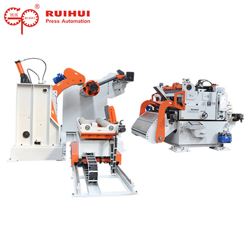 3 in 1 NC servo decoiler straightener feeder for punching system