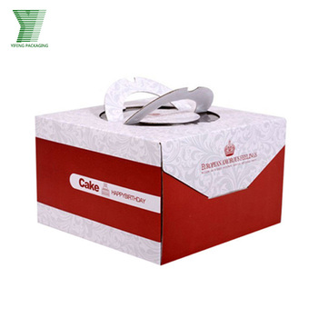 New product hot sale cake box paper cake box design cake box with handle