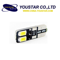 hot sale T10 canbus 4 SMD 5630 led car lamp, no error w5w canbus T10 led 12V, t10 5w5 canbus car led auto