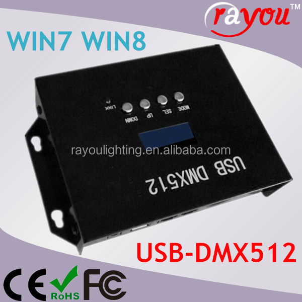 computer dmx512 christmas lights control system, usb dmx lighting controller, dmx 512 light control system for stage