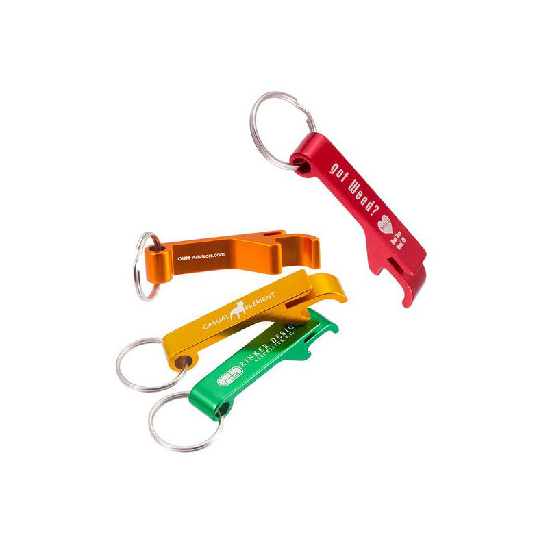 Aluminium Alloy Keychain Key Tag Chain Ring Fancy Bottle Opener With Custom Logo