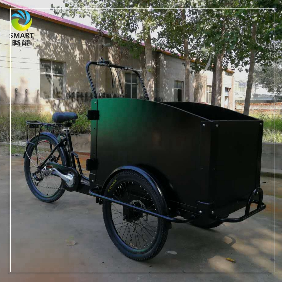 Functional van box Dutch tricycle front loading pedal cargo bike for sale