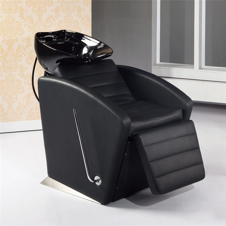 Streamline Shape Electric Shampoo Unit Manual Control Hair Washing Chair With Asdjustable Bowl