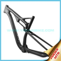 YISHUNBIKE 2015 high quality 29er bike full suspension mtb carbon frame BB30/ PF30 bicycle frame Disc Brake E-type FM069