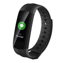 2017 Hot Selling Step Calorie Burnt Recorder Black Smartband Blood Pressure