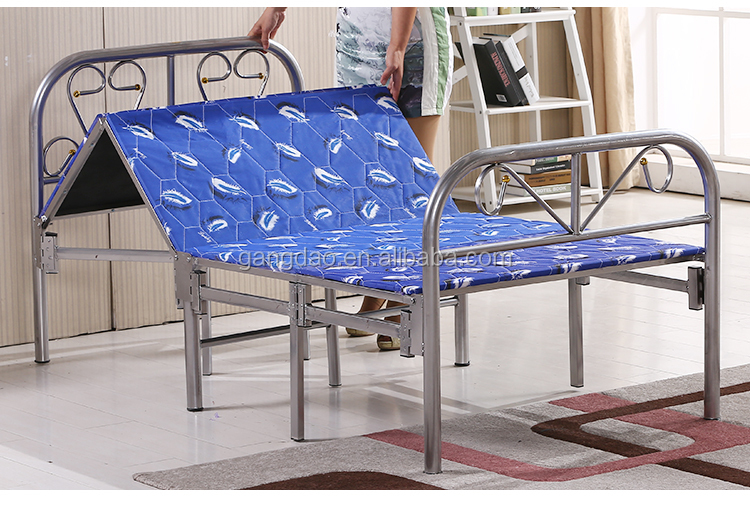 Alibaba sale Iron metal folding double bed designs india