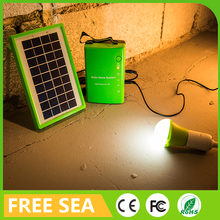 Mini solar panel power system home with USB for all phone fan computer charging